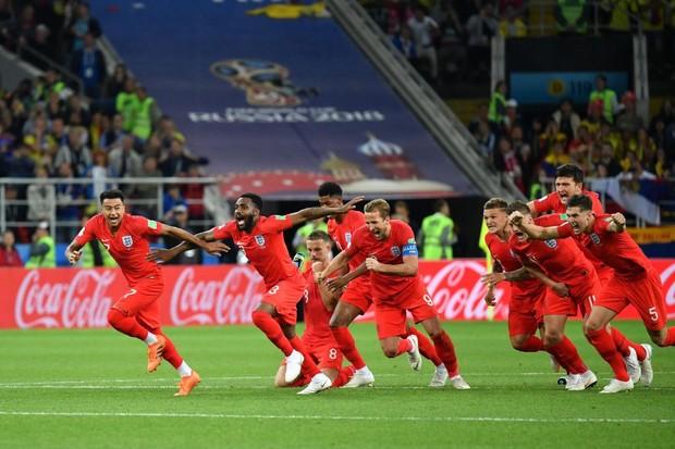 Image result for england vs colombia celebration