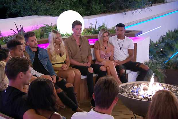 From ITV Studios  Love Island: SR4: Ep36 on ITV2  Pictured: The Islanders and the dumping.  This photograph is (C) ITV Plc and can only be reproduced for editorial purposes directly in connection with the programme or event mentioned above, or ITV plc. Once made available by ITV plc Picture Desk, this photograph can be reproduced once only up until the transmission [TX] date and no reproduction fee will be charged. Any subsequent usage may incur a fee. This photograph must not be manipulated [excluding basic cropping] in a manner which alters the visual appearance of the person photographed deemed detrimental or inappropriate by ITV plc Picture Desk.  This photograph must not be syndicated to any other company, publication or website, or permanently archived, without the express written permission of ITV Plc Picture Desk. Full Terms and conditions are available on the website www.itvpictures.co.uk  For further information please contact: james.hilder@itv.com / 0207 157 3052   TL