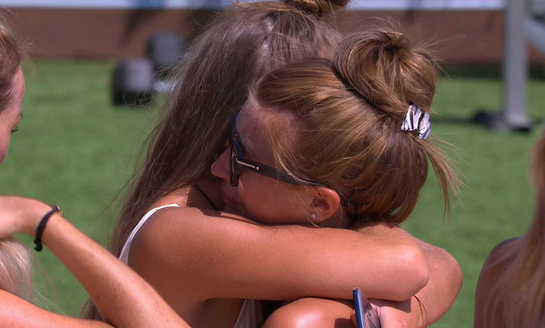 From ITV StudiosLove Island: SR4: Ep28 on ITV2Pictured: Georgia comforts Dani.This photograph is (C) ITV Plc and can only be reproduced for editorial purposes directly in connection with the programme or event mentioned above, or ITV plc. Once made available by ITV plc Picture Desk, this photograph can be reproduced once only up until the transmission [TX] date and no reproduction fee will be charged. Any subsequent usage may incur a fee. This photograph must not be manipulated [excluding basic cropping] in a manner which alters the visual appearance of the person photographed deemed detrimental or inappropriate by ITV plc Picture Desk.  This photograph must not be syndicated to any other company, publication or website, or permanently archived, without the express written permission of ITV Plc Picture Desk. Full Terms and conditions are available on the website www.itvpictures.co.ukFor further information please contact:james.hilder@itv.com / 0207 157 3052