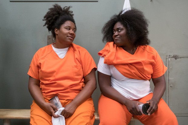 Adrienne C as Black Cindy and Danielle Brooks as Taystee