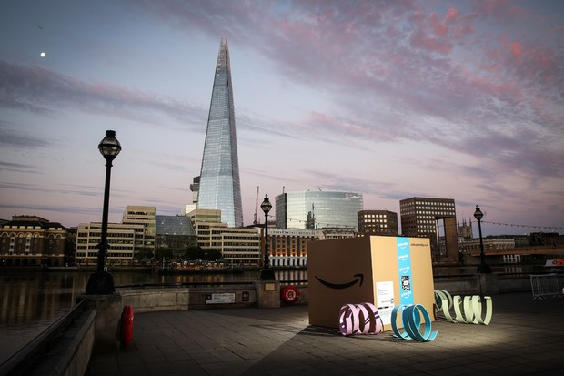 EDITORIAL USE ONLY Amazon announces Prime Day, 36 hours of epic deals kicking off midday Monday 16th July, with a giant delivery in central London - Amazon.co.uk/primeday. PRESS ASSOCIATION Photo. Picture date: Tuesday July 3, 2018.  Photo credit should read: Matt Alexander/PA Wire