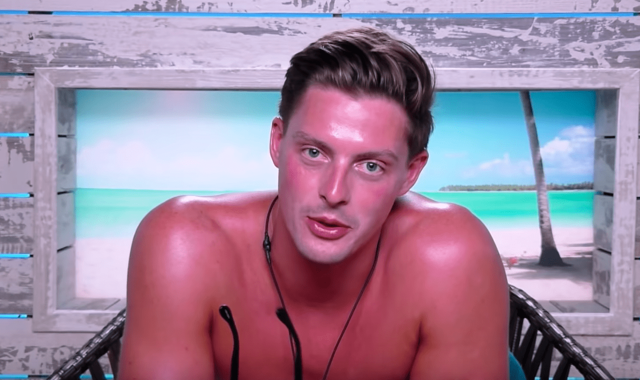 Alex George, Love Island (ITV screenshot, EH)