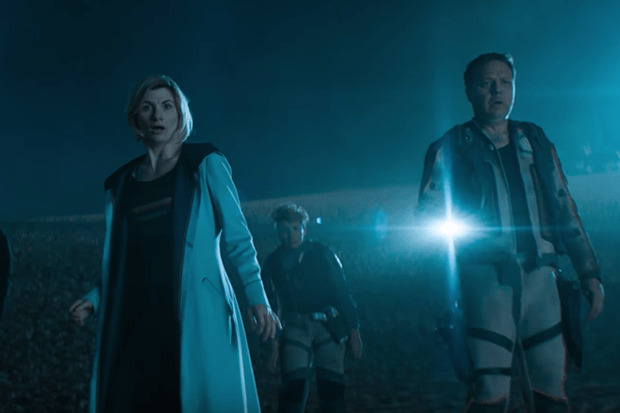 Jodie Whittaker and Shaun Dooley in Doctor Who series 11 (BBC, HF)