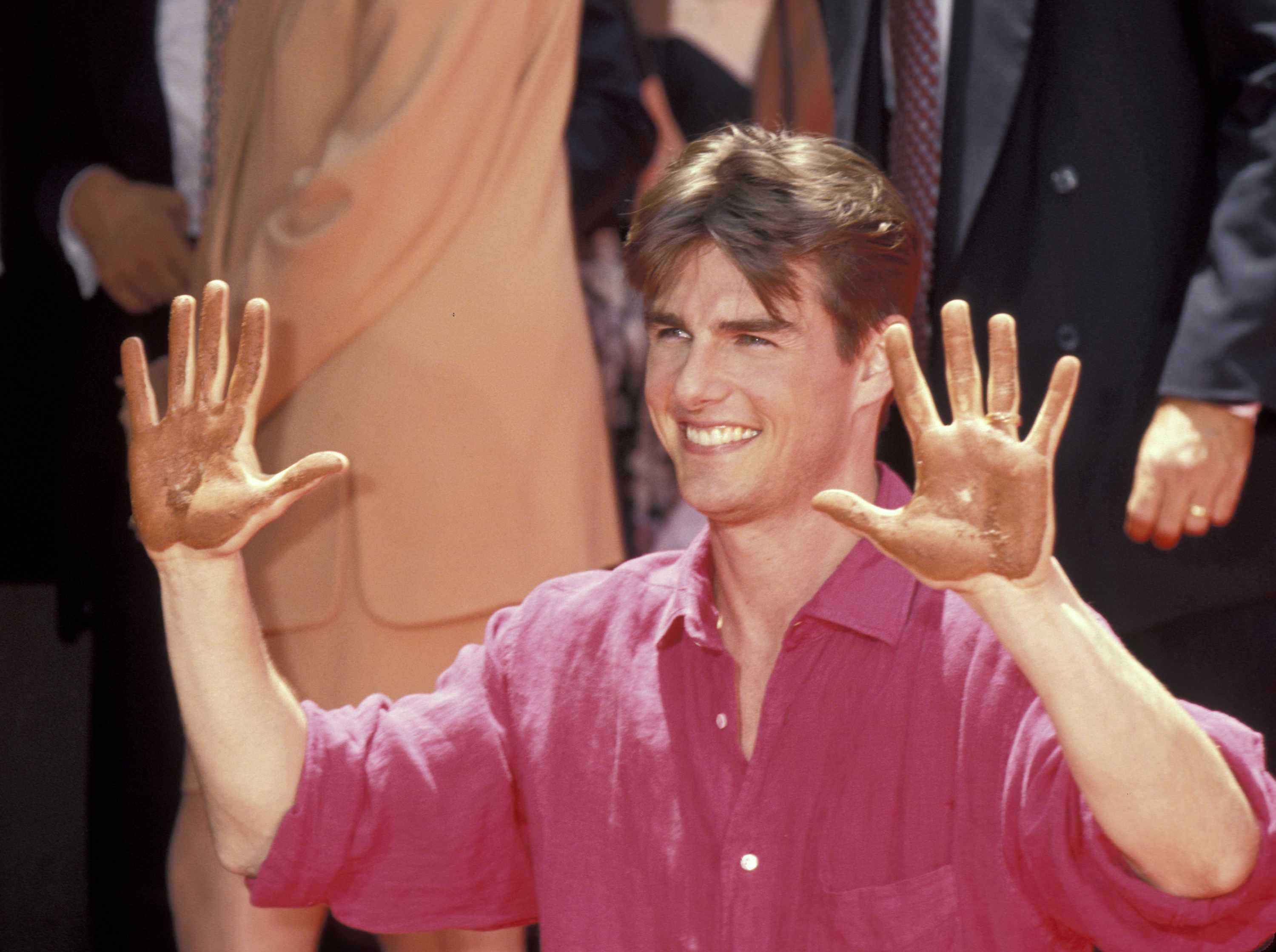 Tom Cruise during Tom Cruise Hand and Footprint Ceremony at Mann's Chinese Theatre at Mann's Chinese Theatre in Hollywood, California, United States. (Photo by Ron Galella/WireImage)