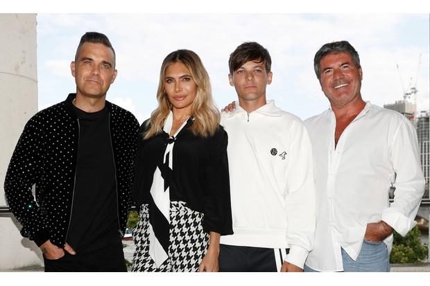 The X Factor judges 2018: Robbie Williams, Ayda Field, Louis Tomlinson, Simon Cowell