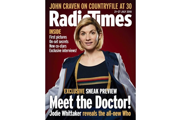 Jodie Whittaker's Thirteenth Doctor on the cover of the Radio Times magazine
