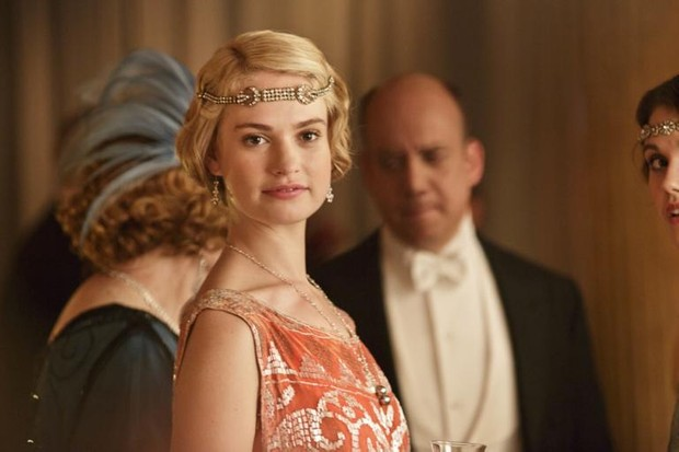 lily james as lady rose on downton abbey itv hf - Downton Abbey Christmas Special
