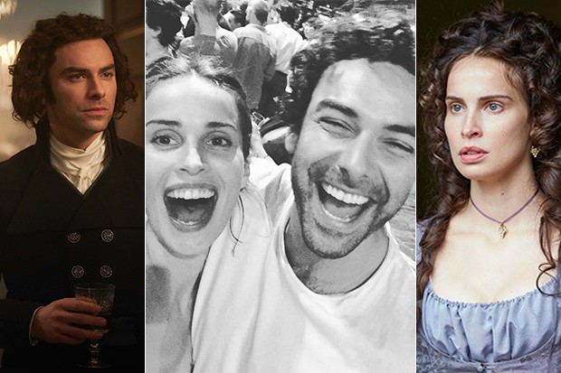 Aidan Turner and Heida Reed, BBC Pictures & Instagram, SL