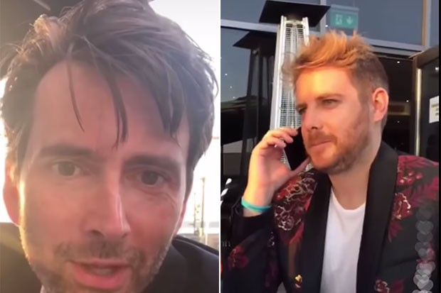 David Tennant and Christian Brassington, Instagram live, SL