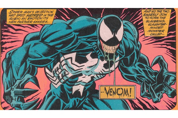 Venom as he appears in Marvel's comics (Marvel, HF)