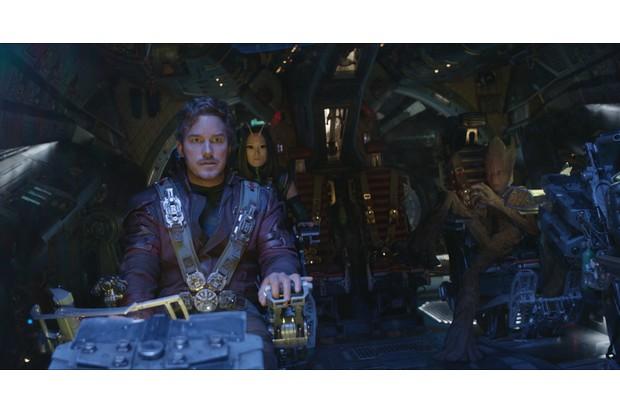 L to R: Star-Lord/Peter Quill (Chris Pratt), Mantis (Pom Klementieff), Groot (voiced by Vin Diesel)DIsney, Marvel, sky pics, TL