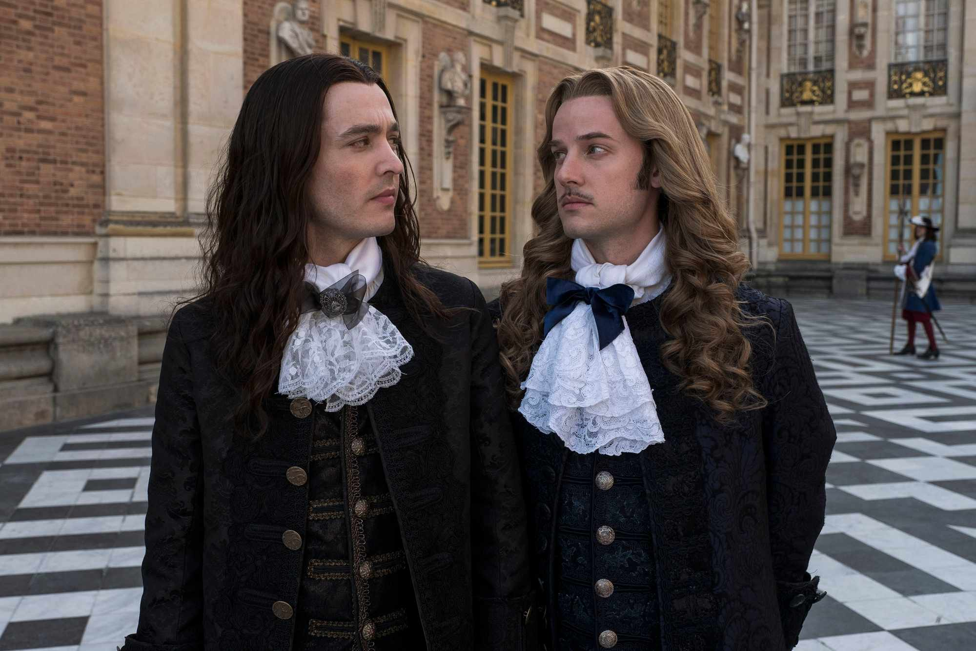 Alexander Vlahos and Evan Williams in Versailles