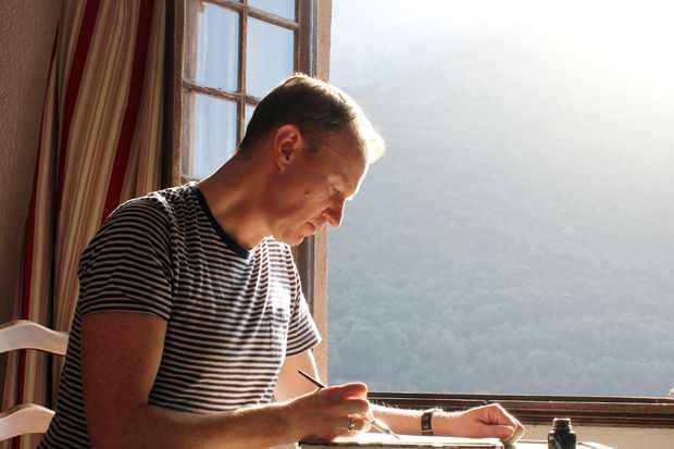 Programme Name: Mark Gatiss on John Minton: The Lost Man of British Art - TX: n/a - Episode: n/a (No. n/a) - Picture Shows: in Ota, Corsica Mark Gatiss - (C) BBC Studios - Photographer: Matt Thomas  TL