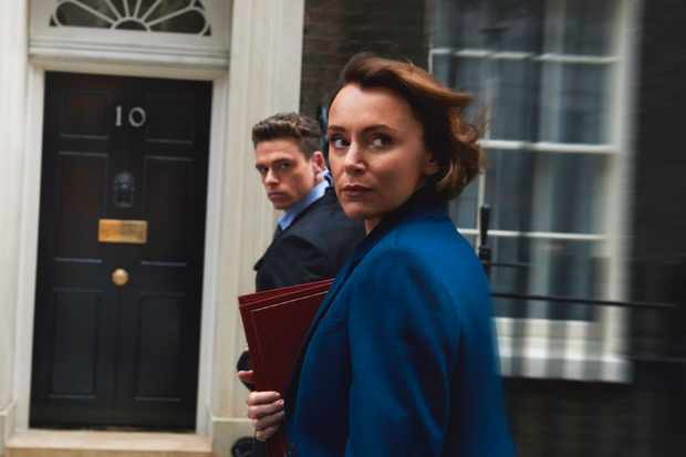 WARNING: Embargoed for publication until 00:00:01 on 21/08/2018 - Programme Name: Bodyguard - TX: n/a - Episode: n/a (No. Generics) - Picture Shows: *STRICTLY NOT FOR PUBLICATION UNTIL 00:01HRS, TUESDAY 21ST AUGUST, 2018* Julia Montague (KEELEY HAWES), David Budd (RICHARD MADDEN) - (C) World Productions - Photographer: Des Willie