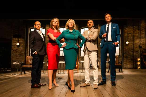 WARNING: Embargoed for publication until 00:00:01 on 07/08/2018 - Programme Name: Dragons' Den - TX: n/a - Episode: n/a (No. n/a) - Picture Shows: ++STRICTLY EMBARGOED UNTIL TUESDAY 7TH AUGUST 2018++ Touker Suleyman, Jenny Campbell, Deborah Meaden, Tej Lalvani, Peter Jones - (C) BBC - Photographer: Andrew Farrington  TL