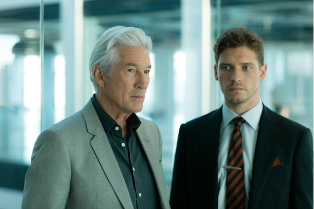 Richard Gere and Billy Howle in MotherFatherSon (BBC, EH)