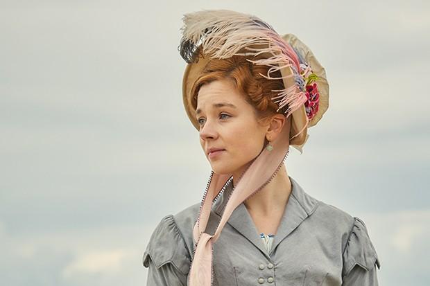 Claudia Jessie plays Amelia Sedley in Vanity Fair