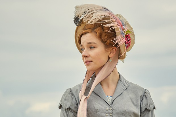 Claudia Jessie plays Amelia Sedley in Vanity Fair