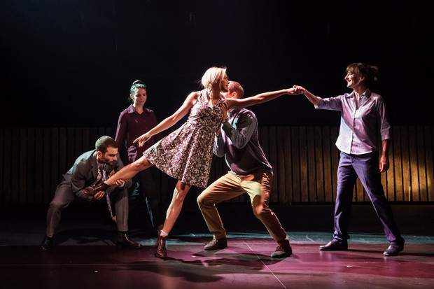 Frantic Assembly's trademark physicality in Things I Know to Be True (photos by Manuel Harlan)