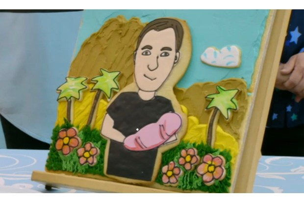 Great British Bake Off Dan's biscuit portrait in week 1