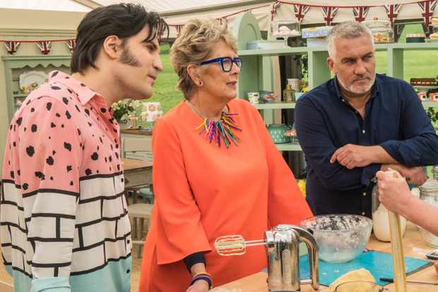 The Great British Bake Off 2018 - Noel Fielding, Prue Leith and Paul Hollywood