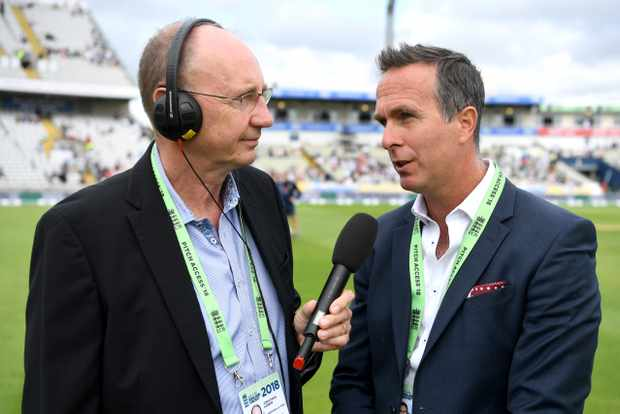 Jonathan Agnew and Michael Vaughan Test Match Special