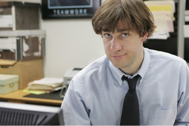 "THE OFFICE -- ""Health Care"" Episode 3 -- Aired 04/05/2005 -- Pictured: John Krasinski as Jim Halpert -- Photo by: Justin Lubin/NBCU Photo Bank"