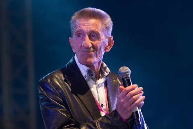 NEWPORT, ISLE OF WIGHT - SEPTEMBER 12:  Barry Chuckle of The Chuckle Brothers performs onstage during day 3 of Bestival 2015 at Robin Hill Country Park on September 12, 2015 in Newport, Isle of Wight.  (Photo by Ollie Millington/Redferns)  Getty, TL