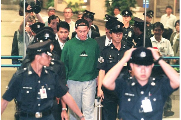 Nick Leeson after his arrest in 1995
