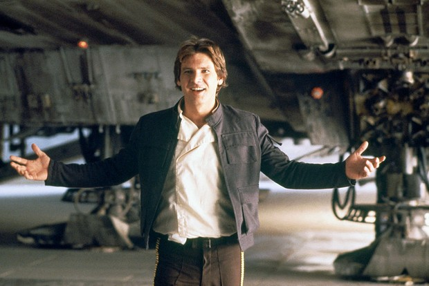 Harrison Ford as Han Solo in star Wars: The Empire Strikes Back