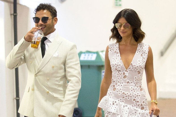 Ryan Thomas and Lucy Mecklenburgh attend day eleven of the Wimbledon Tennis Championships, 2017 (Getty)