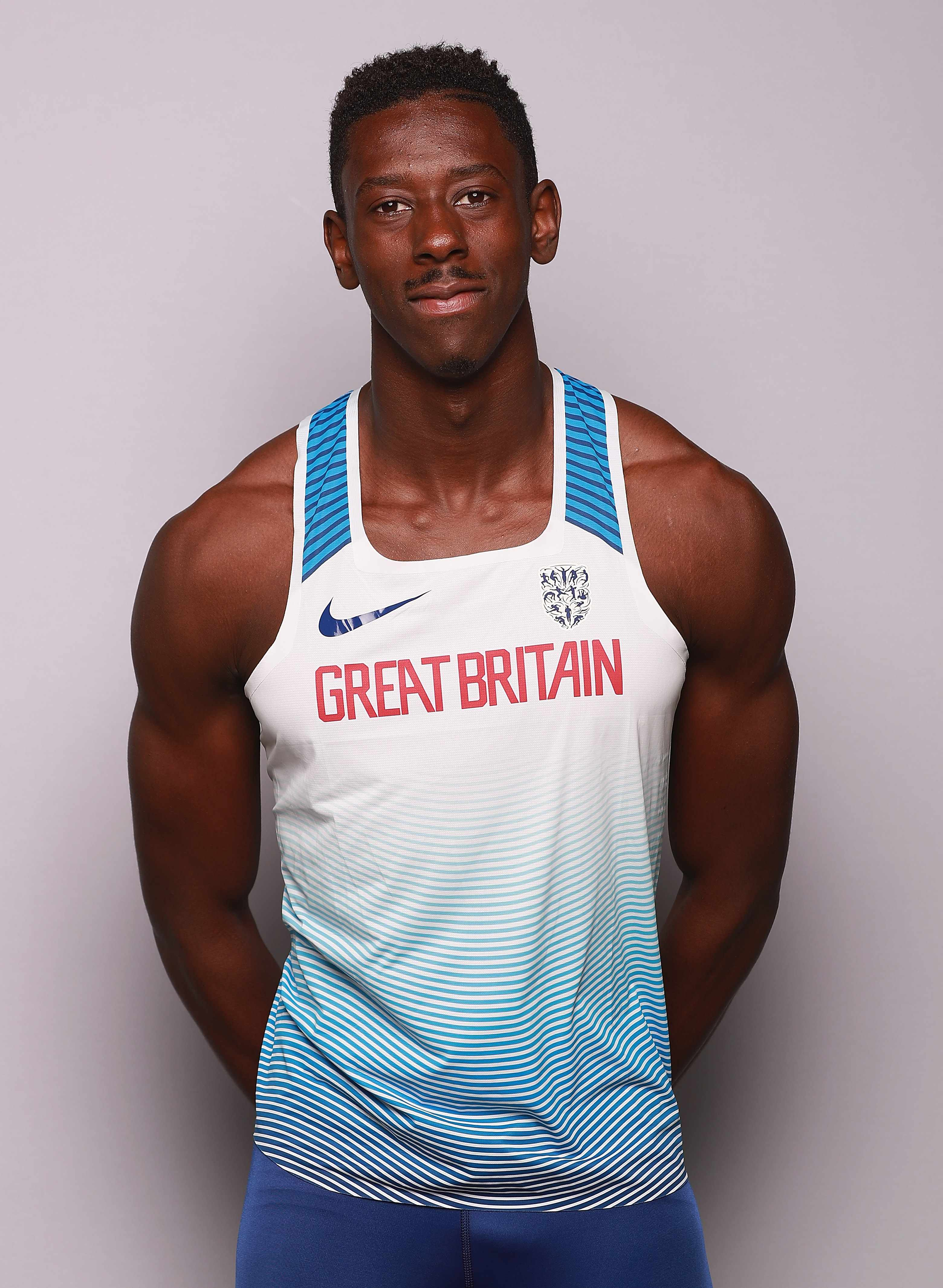 UNSPECIFIED - JULY 26:  Reece Prescod of the British Athletics team poses for a portrait / trains during the British Athletics Team World Championships Preparation Camp on July 26, 2017. The IAAF World Championships in Athletics start on Friday 4th August 2017 in London  (Photo by Matt Lewis - British Athletics/British Athletics via Getty Images) TL