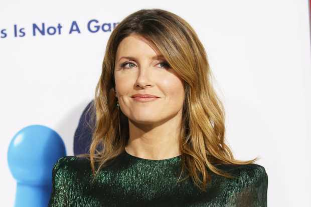 """HOLLYWOOD, CA - FEBRUARY 21:  Sharon Horgan arrives to New Line Cinema and Warner Bros. Pictures' """"Game Night"""" Premiere held at TCL Chinese Theatre on February 21, 2018 in Hollywood, California.  (Photo by Michael Tran/FilmMagic)  TL"""