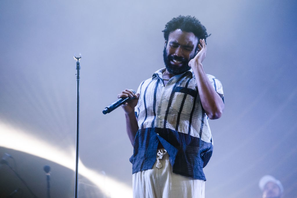 LONDON, ENGLAND - JULY 14:  (EDITORIAL USE ONLY) Childish Gambino performs on Day 2 of Lovebox festival at Gunnersbury Park on July 14, 2018 in London, England.  (Photo by Joseph Okpako/WireImage)