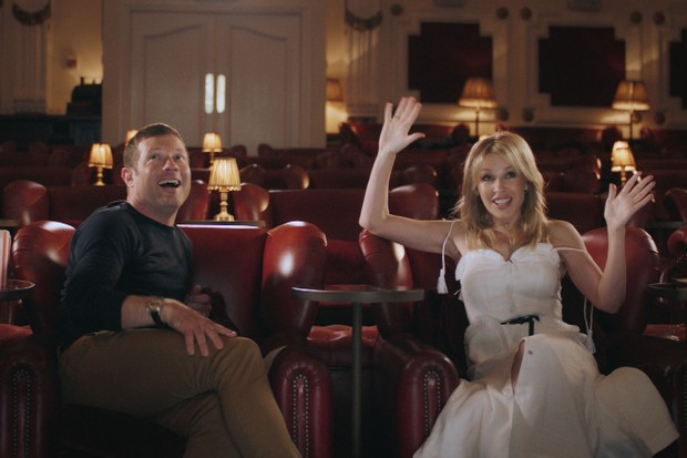 Dermot O'Leary and Kylie Minogue for BBC iPlayer's Reel Stories