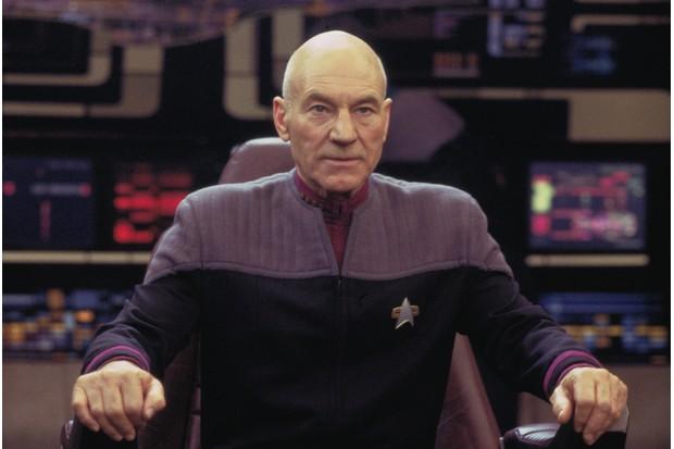 Patrick Stewart as Captain Jean-Luc Picard in Star Trek: Nemesis (Sky, HF)