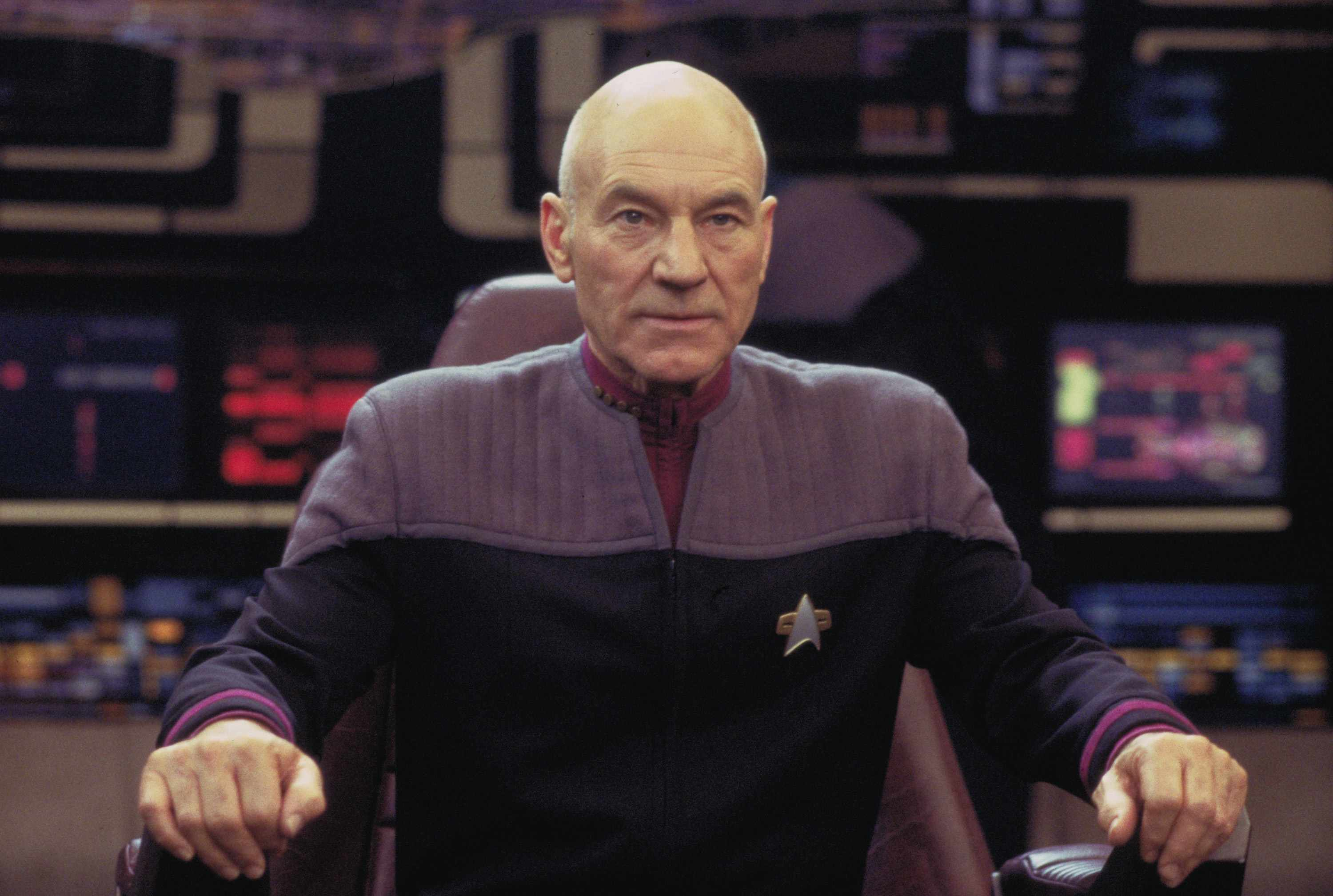 Patrick Stewart as Captain Jean-Luc Picard in Star Trek: Nemesis (Sky, HF)