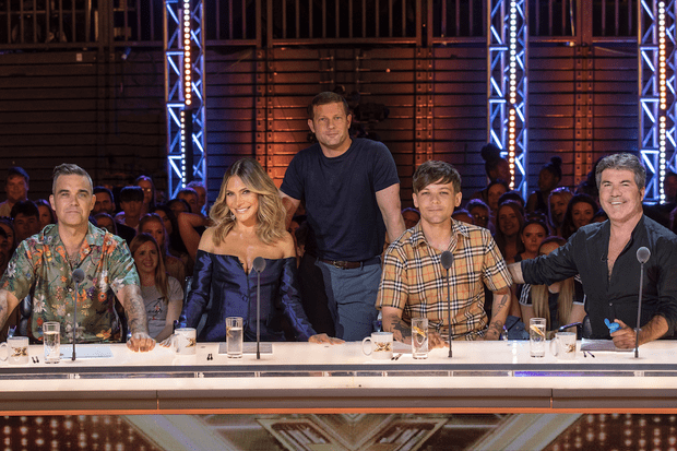 The X Factor 2018 judges: Robbie Williams, Ayda Field, Louis Tomlinson and Simon Cowell
