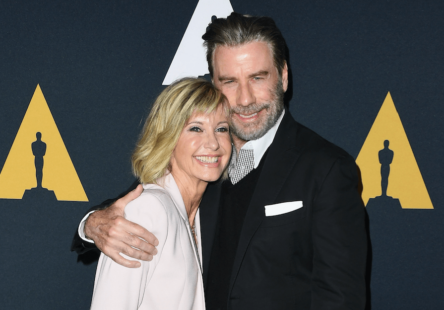 John Travolta and Olivia Newton John reunite to mark Grease's 40th anniversary