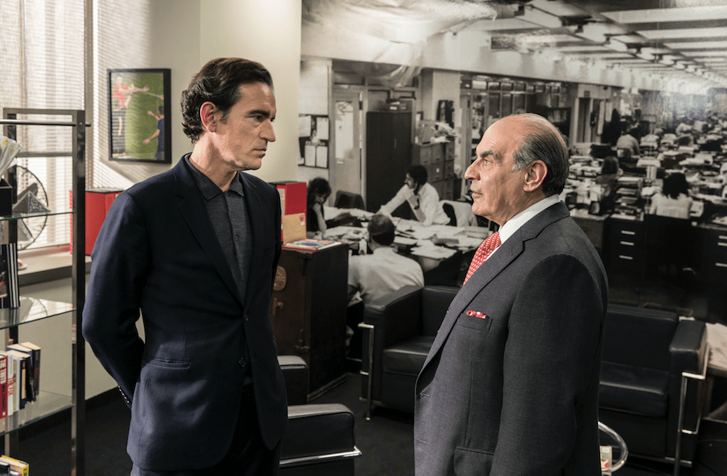 Ben Chaplin and David Suchet in Press, BBC1
