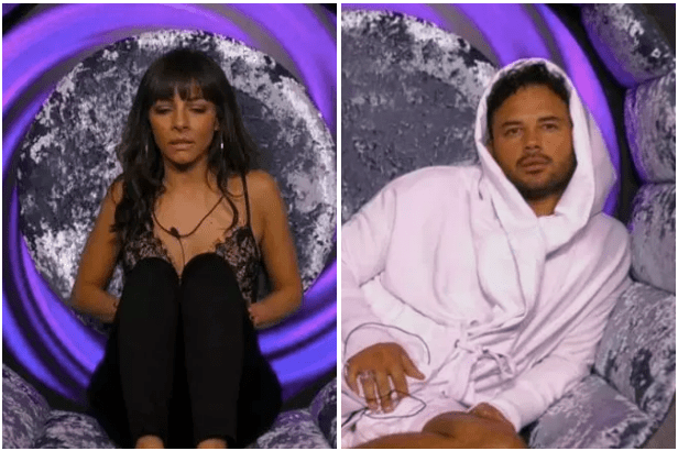 Roxanne Pallett and Ryan Thomas, Celebrity Big Brother (CBB screenshots, EH)