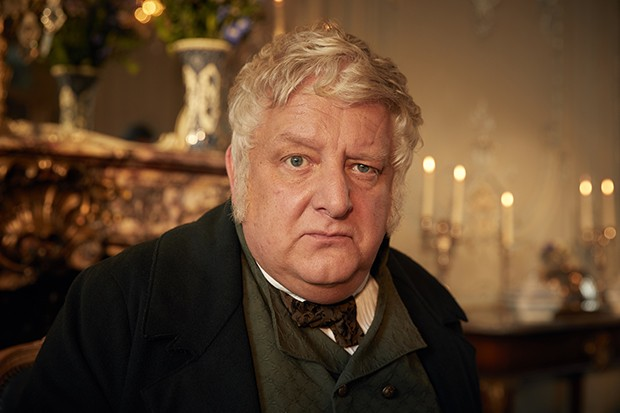 Simon Russell Beale plays Mr Sedley -Vanity Fair