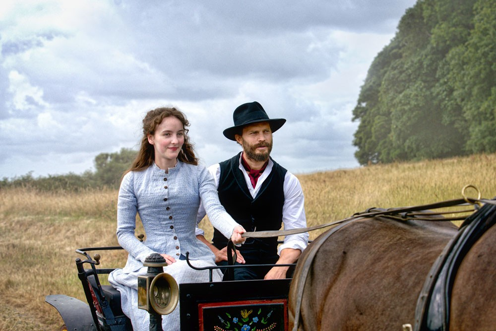 Ann Skelly as Beth and Jamie Dornan as Liam in Death and Nightingales (BBC)