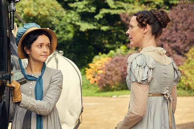 vanity fair- Suranne Jones plays Miss Pinkerton