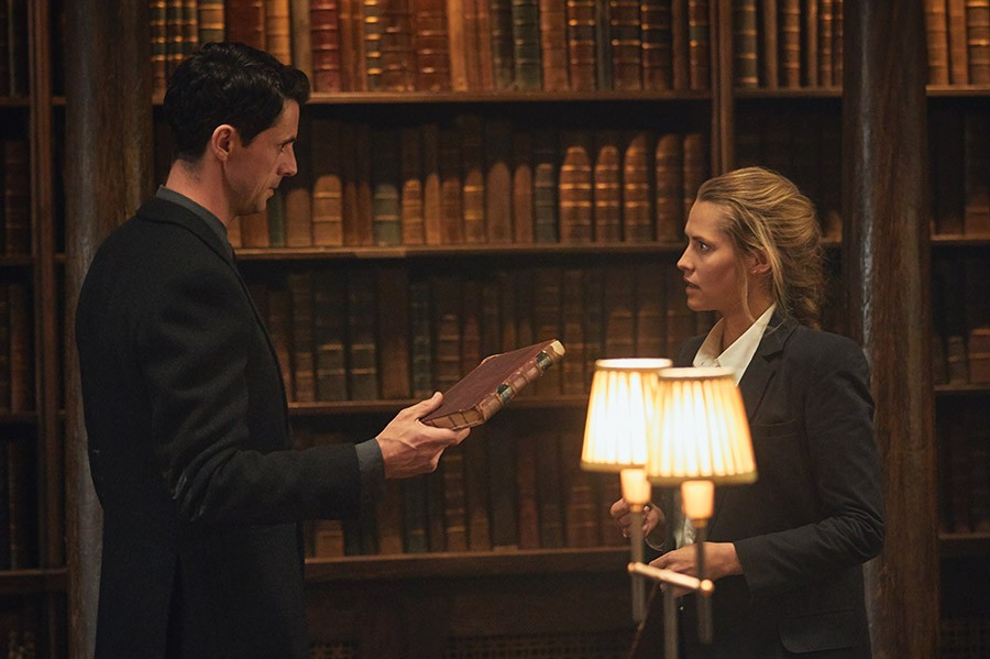Matthew Goode and Teresa Palmer in A Discovery of Witches (Sky, HF)