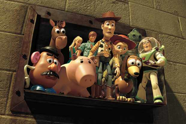 """TOY STORY 3""  (L-R) Mr. Potato Head, Bullseye, Barbie, Hamm, Ken, Woody, Jessie, Slinky Dog, Rex, Buzz Lightyear,    ©Disney/Pixar.  All Rights Reserved.  TL"