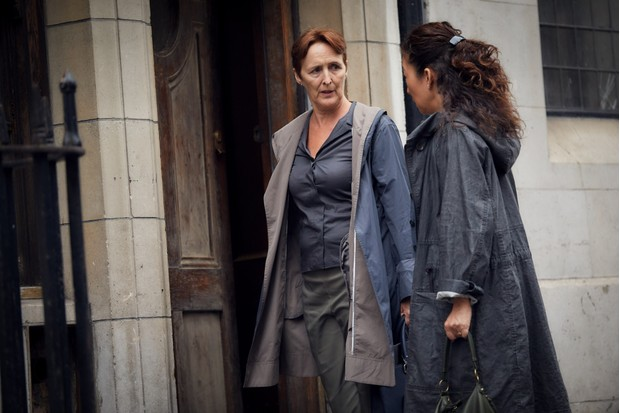 Fiona Shaw and Sandra Oh in Killing Eve
