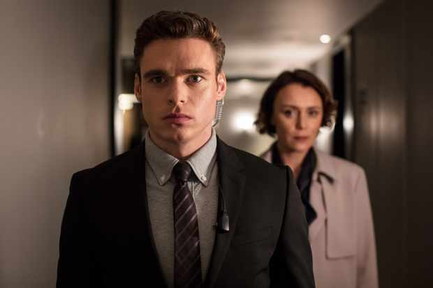 WARNING: Embargoed for publication until 00:00:01 on 28/08/2018 - Programme Name: Bodyguard - TX: n/a - Episode: n/a (No. Ep 3) - Picture Shows: *STRICTLY NOT FOR PUBLICATION UNTIL 00:01HRS, TUESDAY 28TH AUGUST, 2018* David Budd (RICHARD MADDEN), Julia Montague (KEELEY HAWES) - (C) World Productions - Photographer: Sophie Mutevelian