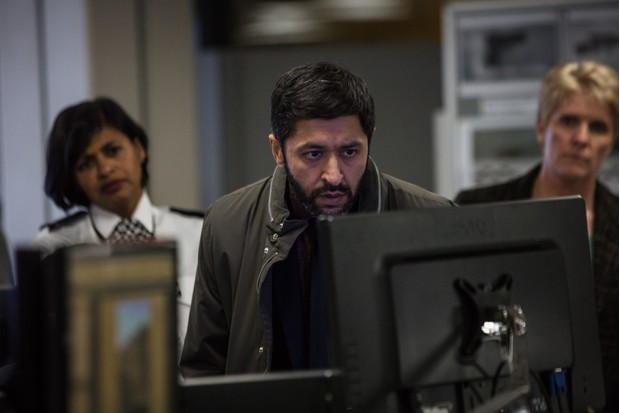 WARNING: Embargoed for publication until 00:00:01 on 04/09/2018 - Programme Name: Bodyguard - TX: n/a - Episode: n/a (No. Ep 4) - Picture Shows: *STRICTLY NOT FOR PUBLICATION UNTIL 00:01HRS, TUESDAY 4TH SEPTEMBER, 2018* Supporting Artists, DCI Deepak Sharma (ASH TANDON) - (C) World Productions - Photographer: Sophie Mutevelian