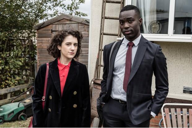 Paapa Essiedu and Ellie Kendrick, Press (BBC, EH)
